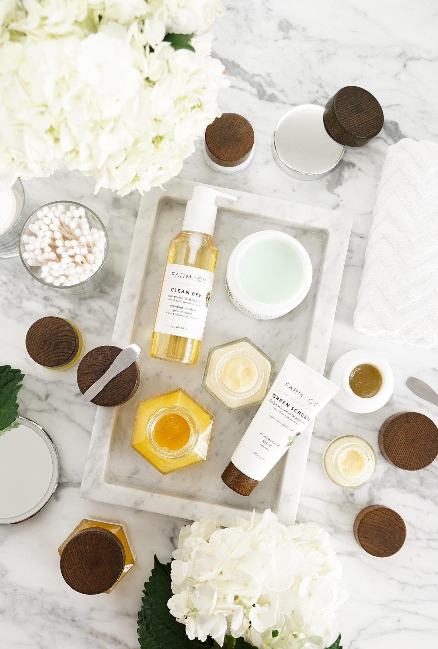 Revue de soin de beauté de beauté par l'intermédiaire du livre de regard de beauté. Vert propre, Potion de miel, abeille propre, écran vert, miel