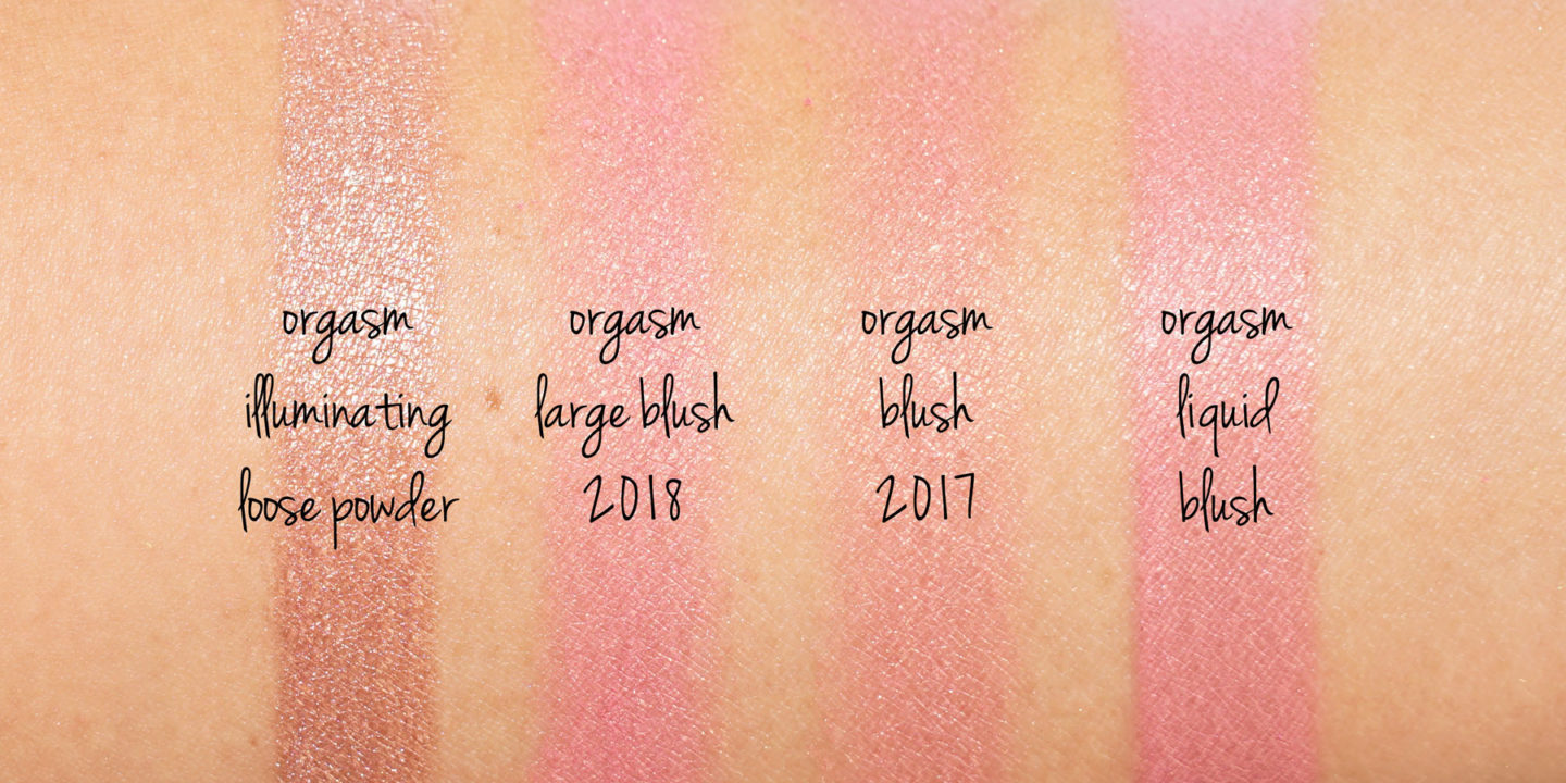 NARS Orgasme Blush Swatches