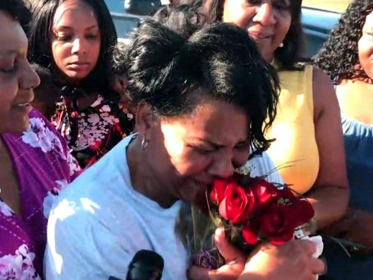 Alice Johnson a été accueillie par sa famille à sa sortie de prison