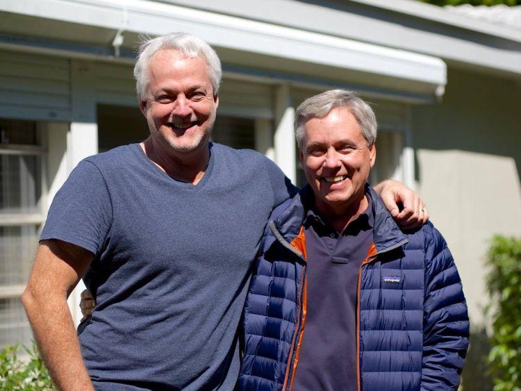 Rob Hiaasen (à gauche) et Carl. Pic: Facebook