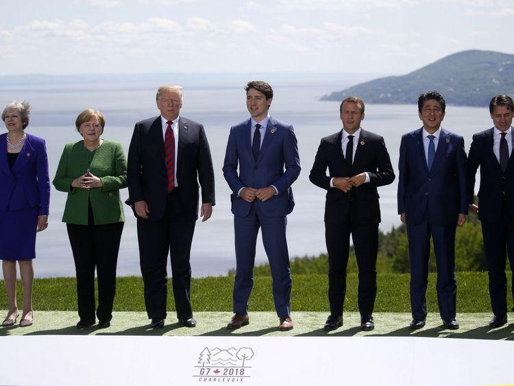 Les dirigeants du G7