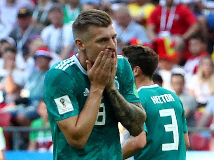 Toni Kroos de l'Allemagne après une occasion manquée