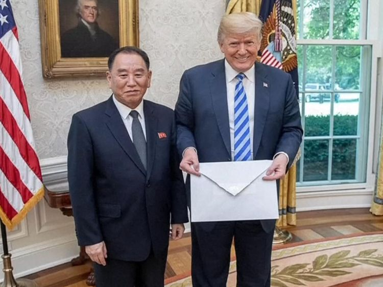 Kim Yong Chol livre Kim Jong Une lettre de Donald à Donald Trump à Washington