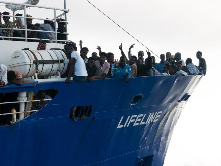 Les migrants sauvés en Méditerranée