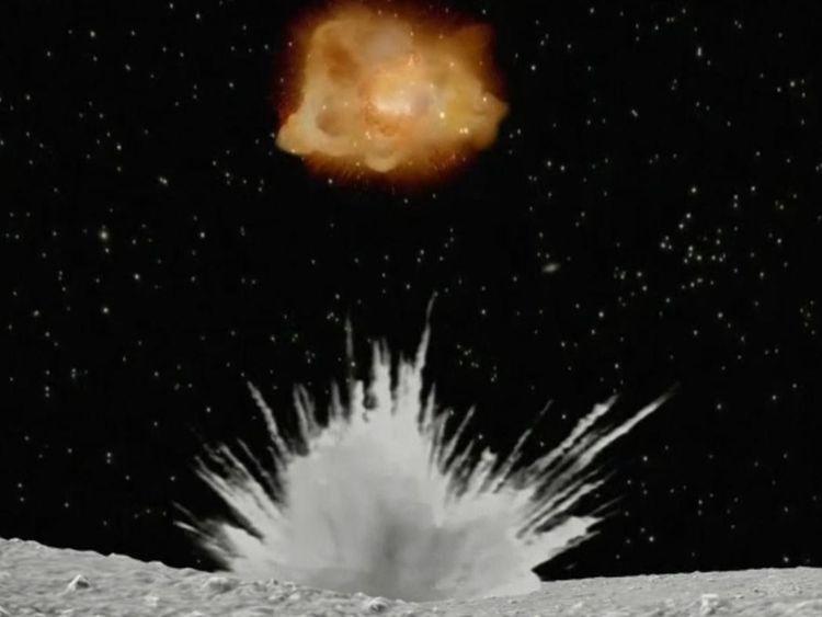 Une sonde spatiale japonaise est arrivée à un astéroïde après un voyage de 170 millions de miles et essaiera d'obtenir des échantillons pour la ramener sur terre. JAXA-Tokyo University / Handout