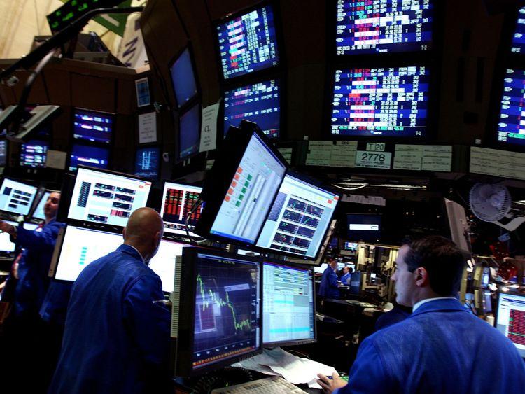 Les négociateurs à la Bourse de New York en septembre 2008