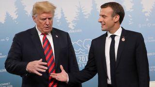 Trump regarde avec méfiance La main tendue de Macron