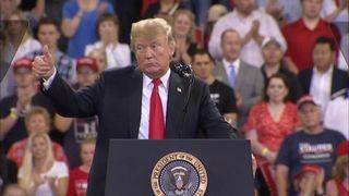 Le président Trump au rassemblement au Minnesota