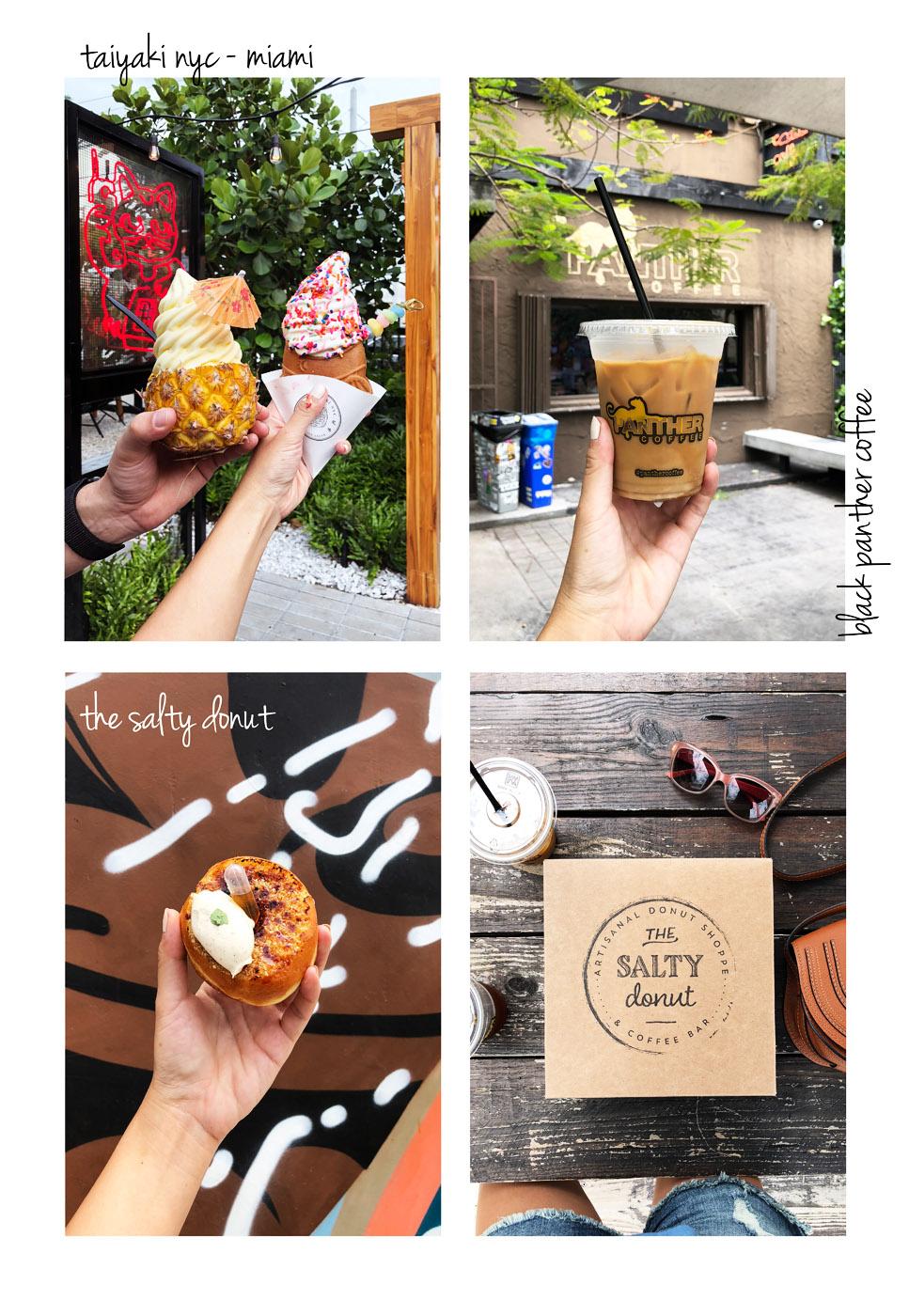 Miami Sweet Eats Taiyaki, café panthère et le beignet salé