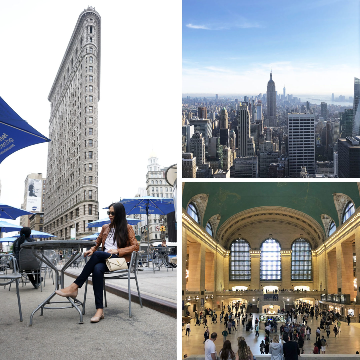 Vues de New York: Flatiron Building, Top of the Rock, Grand Central