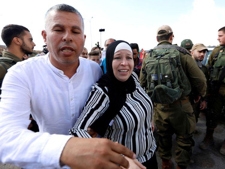 Nareman, la mère de l'adolescent palestinien Ahed Tamimi, était également en prison