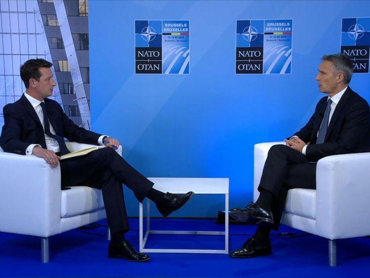 M. Stoltenberg s'est entretenu avec Sky News à la veille d'un sommet crucial