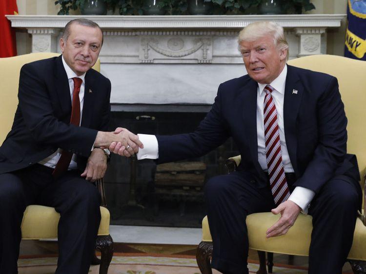 Le président américain a accueilli son homologue turc à la Maison Blanche en 2017