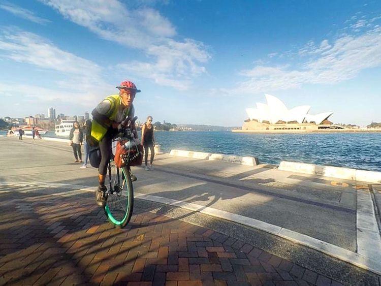 Le voyage d'Ed a inclus Sydney en Australie
