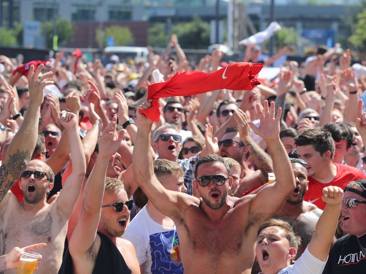 Les fans d'Angleterre