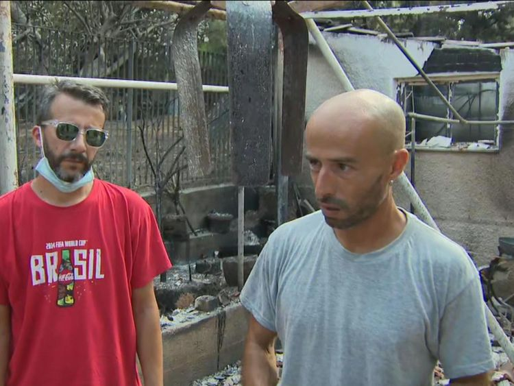 Alex rossi à Mati après les feux de grèce