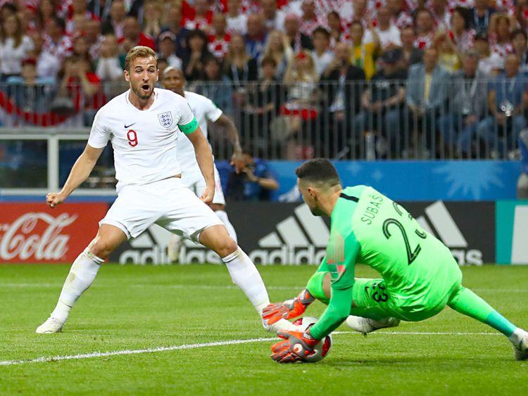 Harry Kane voit son tir sauvé contre la Croatie