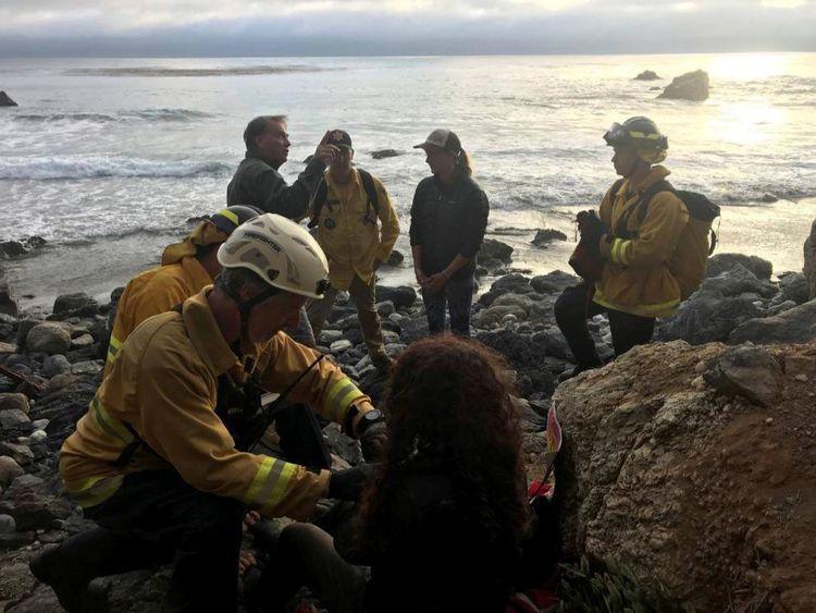 Angela Hernandez a été trouvée au pied d'une falaise par des randonneurs