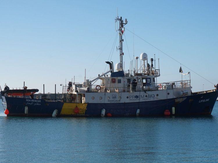 Le Lifeline transporte actuellement plus de 230 migrants. Pic: Mission Lifeline