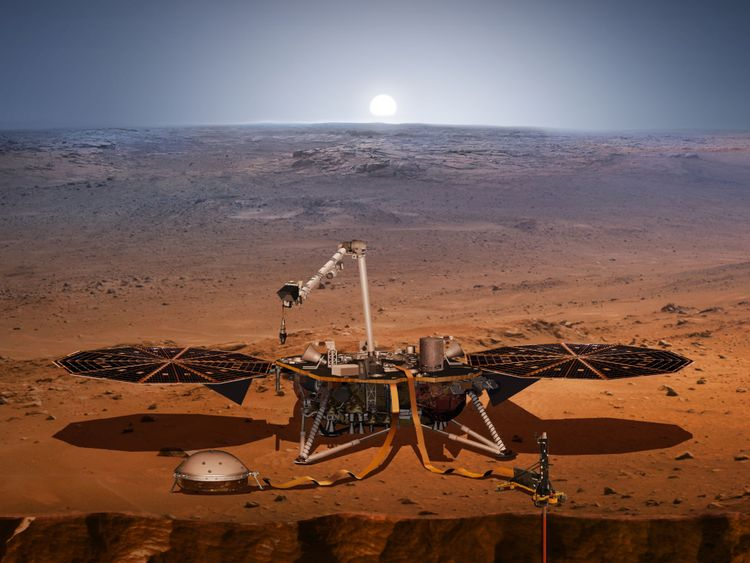 L'atterrisseur InSight doit atterrir sur Mars en novembre. Pic: NASA