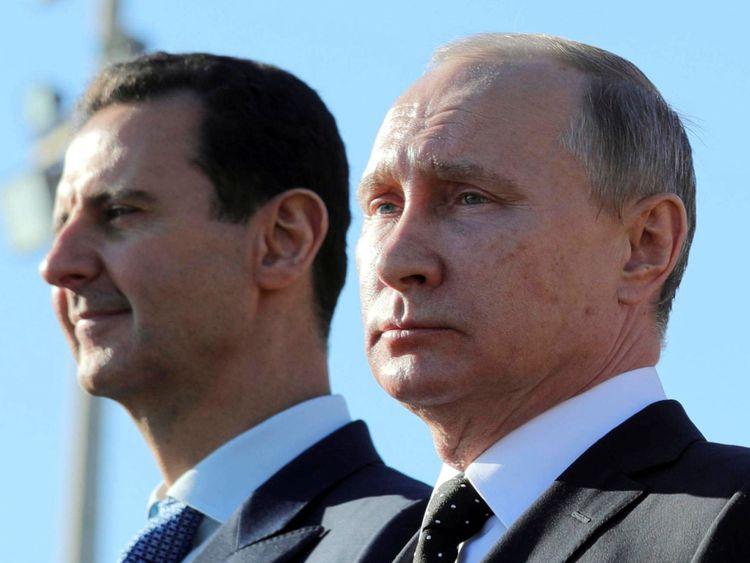 Le président syrien Assad et le président russe Vladimir Poutine nient avoir utilisé des armes chimiques à Douma