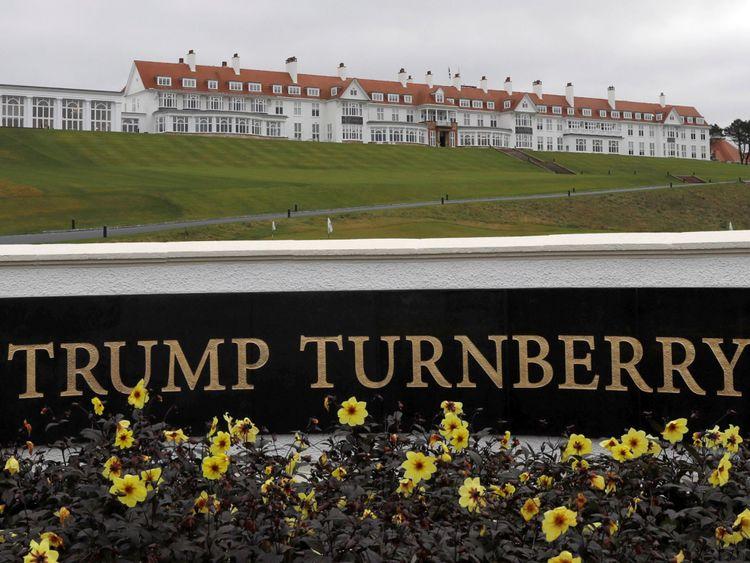 L'hôtel Trump's Turnberry de Donald's, sur la côte de l'Ayrshire