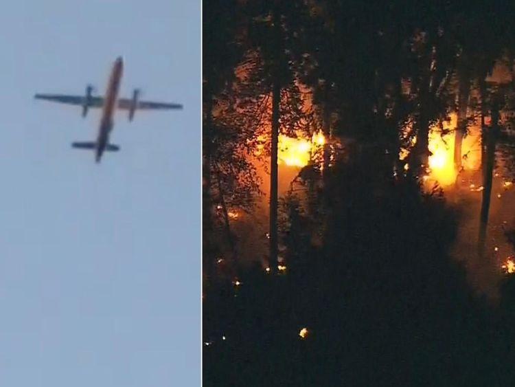 L'avion volé s'est écrasé près de l'île Ketron dans le comté de Pierce, à Washington.