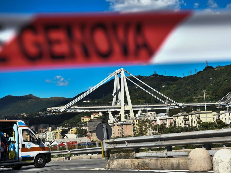 Pont Morandi effondré à Gênes