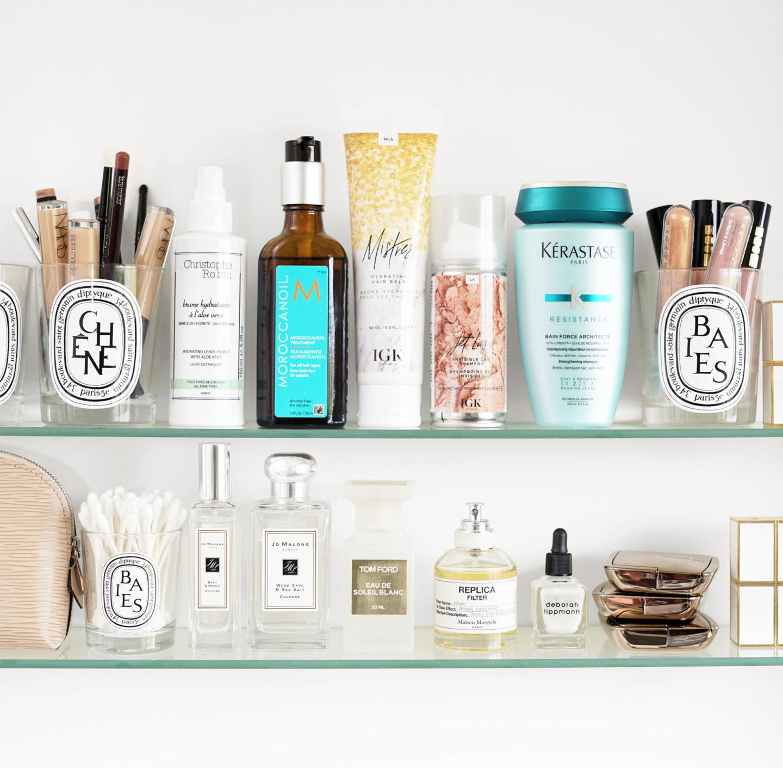 Produits capillaires et parfums préférés Christophe Robin, Moroccanoil, IGK et Jo Malone
