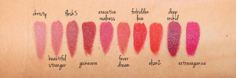 Échantillons de rouge à lèvres Pat McGrath MatteTrance | Le livre de beauté