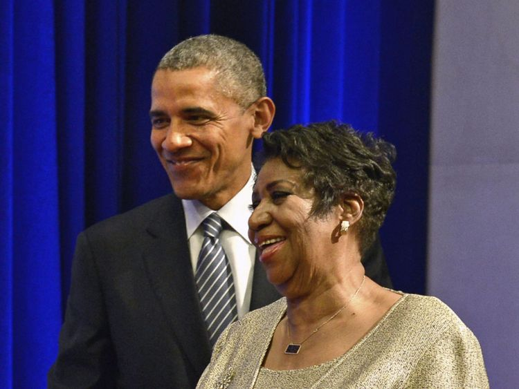 Aretha Franklin avec Barack Obama