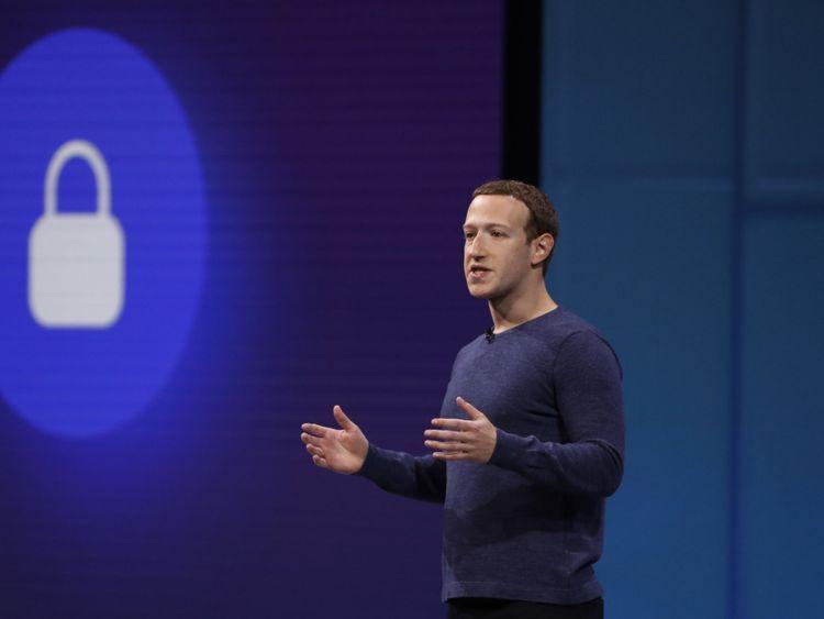 Mark Zuckerberg prend la parole lors d'une conférence sur les développeurs de Facebook F8 à San Jose, en Californie