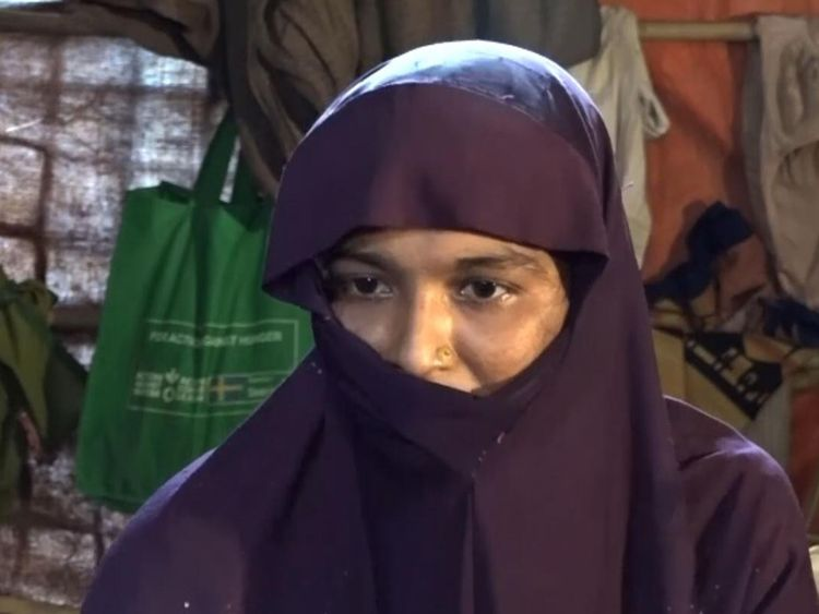 Shafika a été sauvée par son mari après avoir été violée par des soldats
