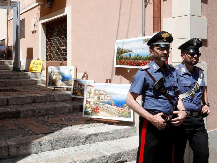 Carabinieri en Sicile