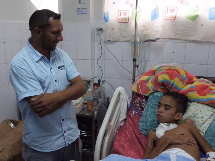 Cesar Torres a été admis avec la diarrhée mais a failli mourir à l'hôpital