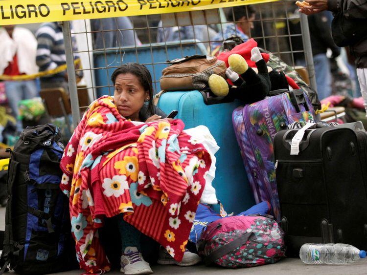 Les Vénézuéliens ont fui dans d'autres pays, y compris en Équateur