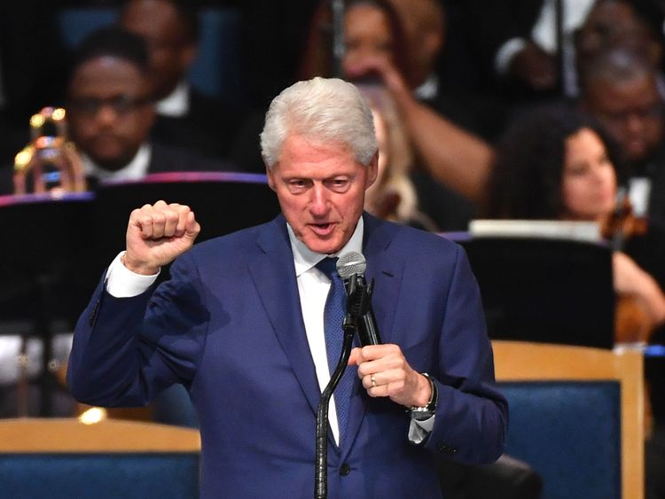 Bill Clinton s'est décrit comme une groupie pour Aretha Franklin