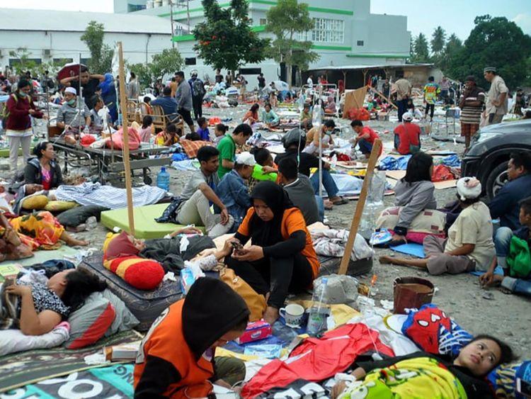Des centaines de victimes du tsunami
