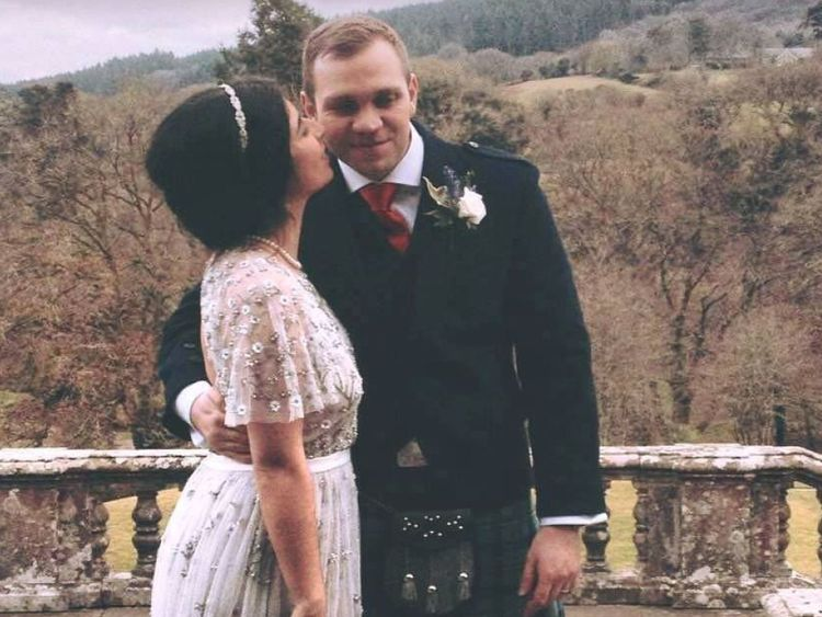 Matthew Hedges et son épouse Daniela Tejada