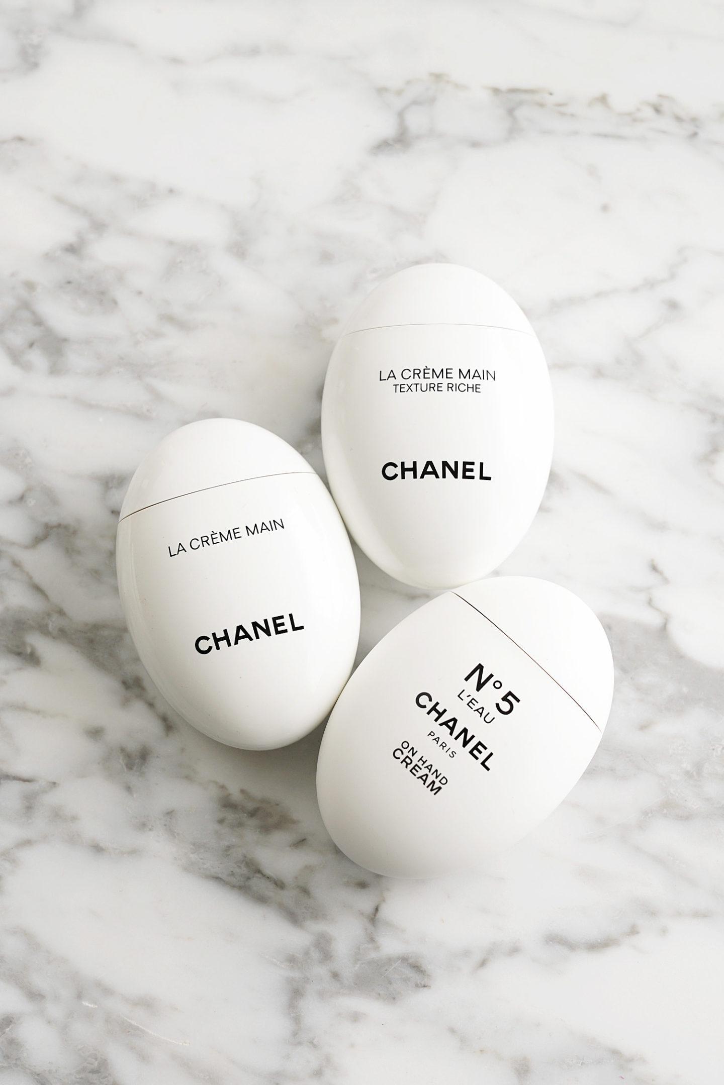 Examen de la crème pour les mains Chanel, La Creme Main, Crème pour les mains et texture N ° 5 Leau