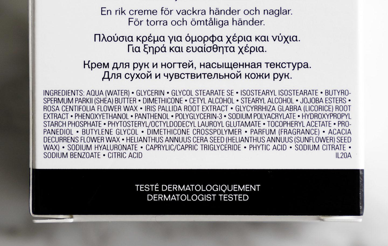 Ingrédients Chanel La Creme Main Texture Riche