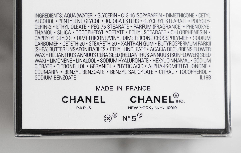 Revue de la crème Chanel No 5 L'Eau On Hand