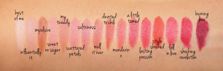 Nuancier de poudre à lèvres MAC Kiss