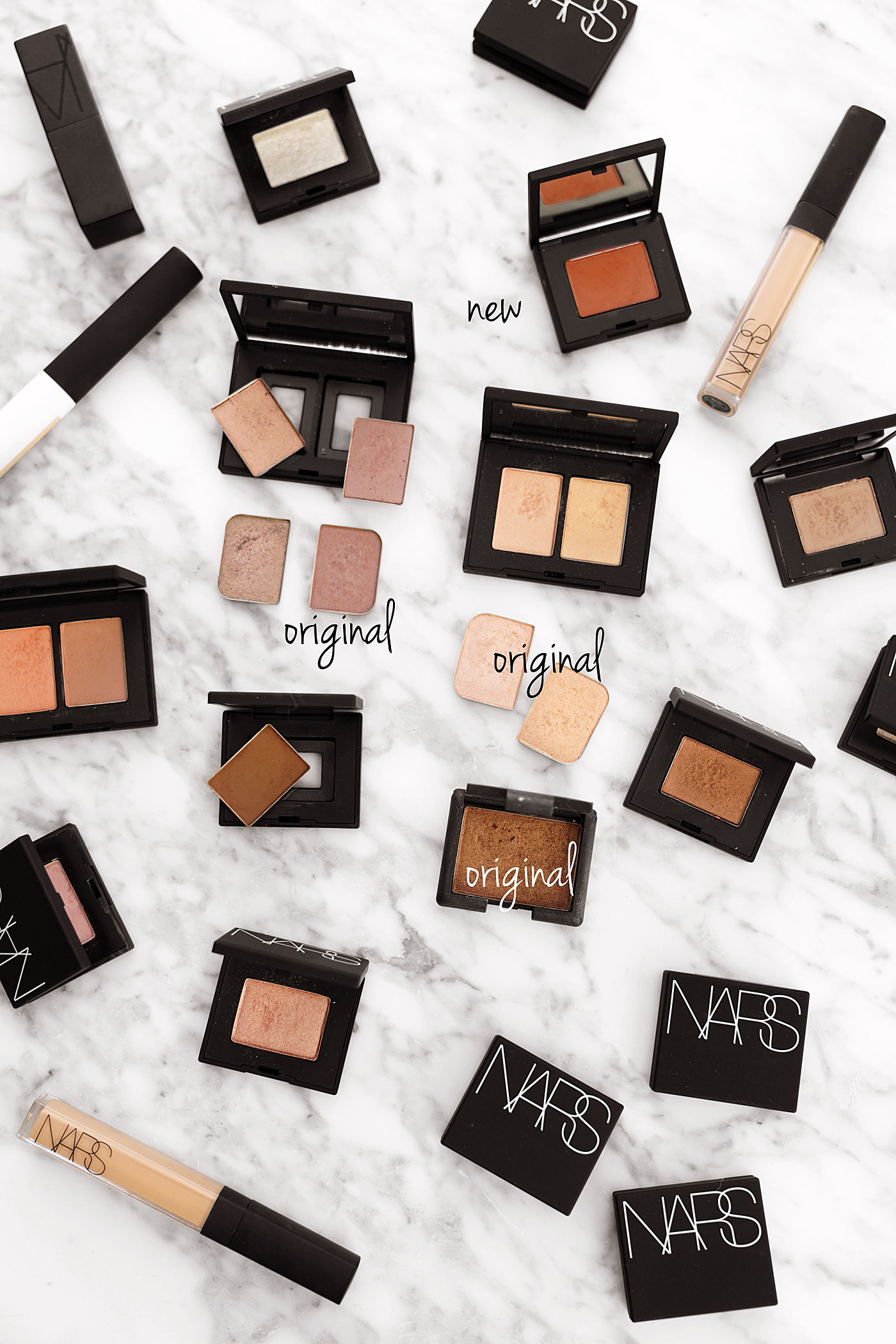 NARS Eyeshadow Single et Duo relancent par rapport aux casseroles originales