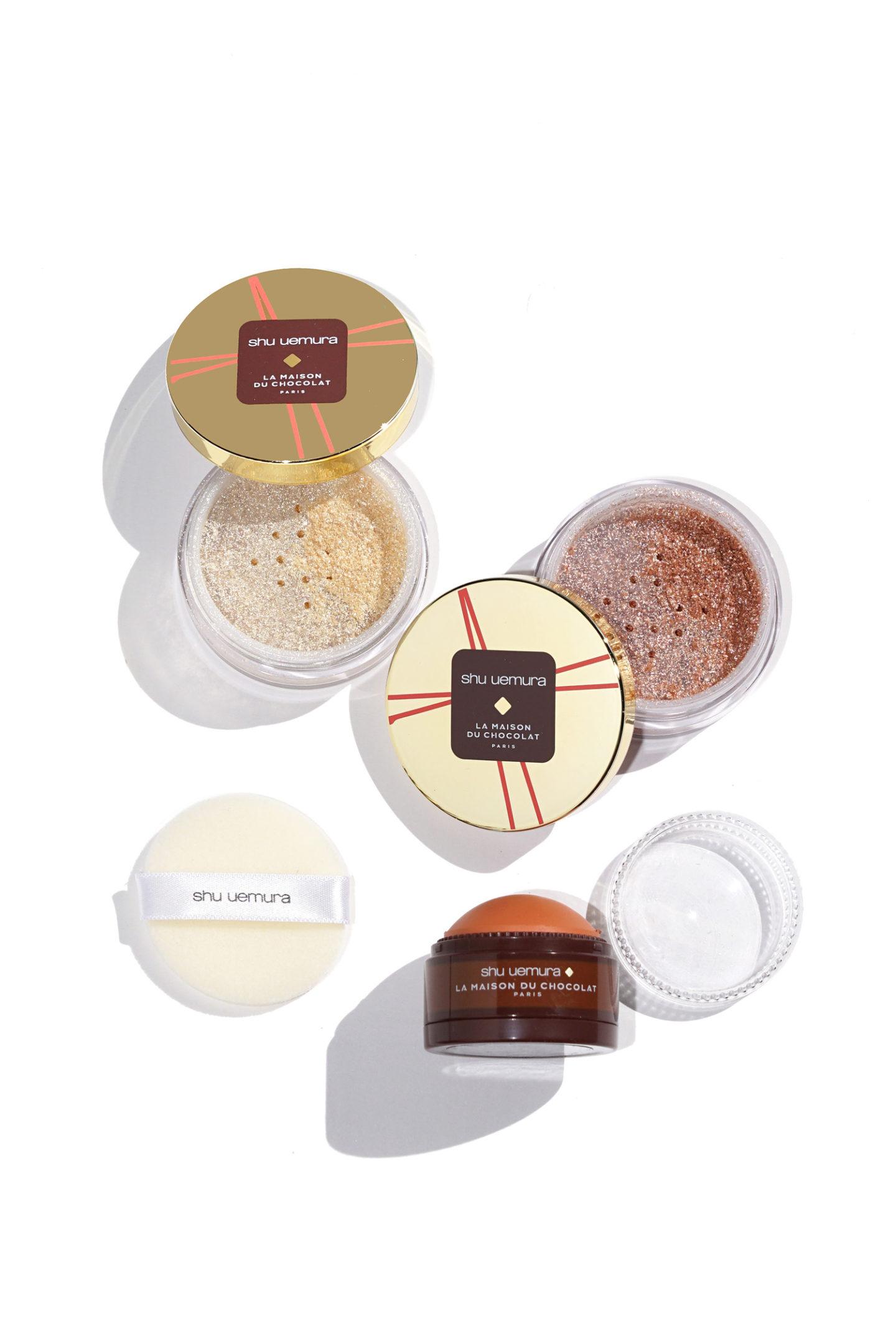 Nuancier Shu Uemura Shimmer Poudre et Creamy Dome Blush