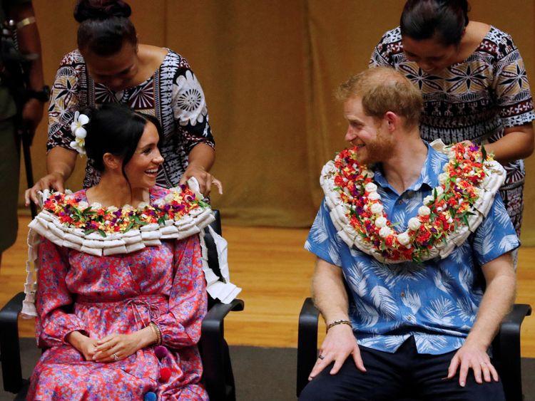 Meghan et le prince Harry à Fidji