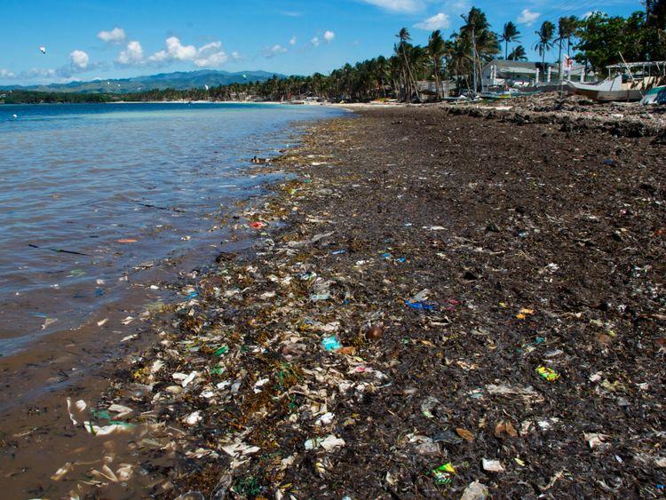 Bulabog beach sur l'île de Boracay, aux Philippines en 2012