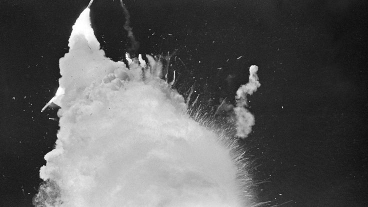 L'épave de la navette a frappé l'océan Atlantique