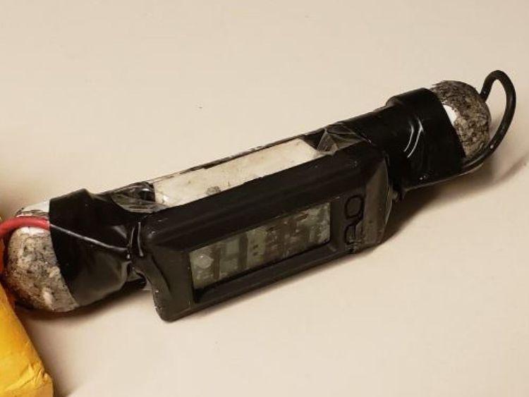 Une des bombes récupérées par la police de New York