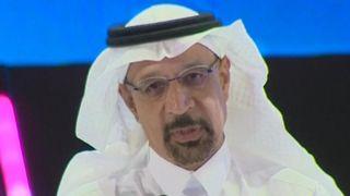 """Le ministre saoudien de l'Énergie, Khalid Al-Falih, a déclaré: """"Personne ne peut justifier ni expliquer"""". l'assassinat du journaliste Jamal Khashoggi"""